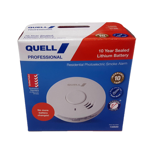 Quell 10 Year Battery Photoelectric Smoke Alarm - Trade Pack