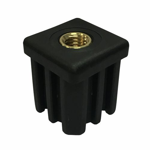 Easyroll 38mm Square Threaded Insert Suits M12 Bolt - 2 Pack