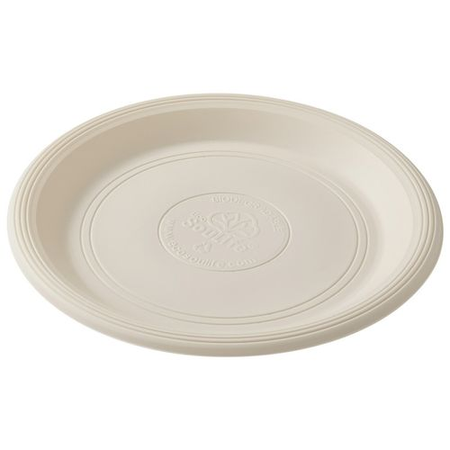 Ecosoulife Cornstarch 23cm Dinner Plate 20pc - Natural