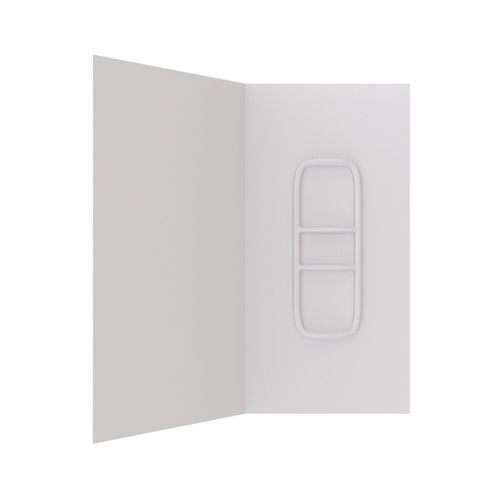 Stein 900 x 900 x 1830mm White Two Sided Acrylic Side Mould Liner