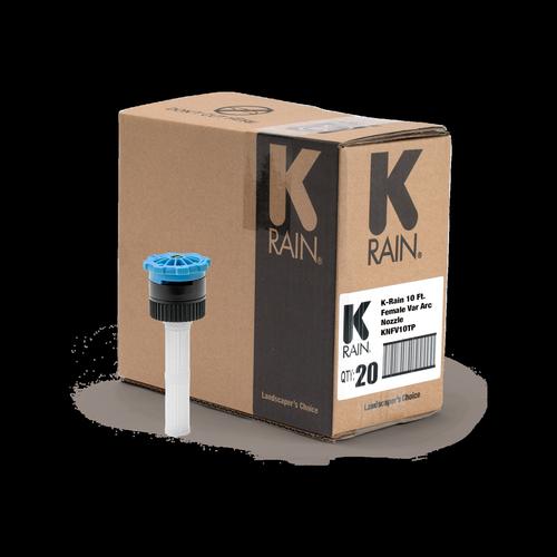 K-Rain Adjustable Spray Nozzle 10′ Female - 20 Pack