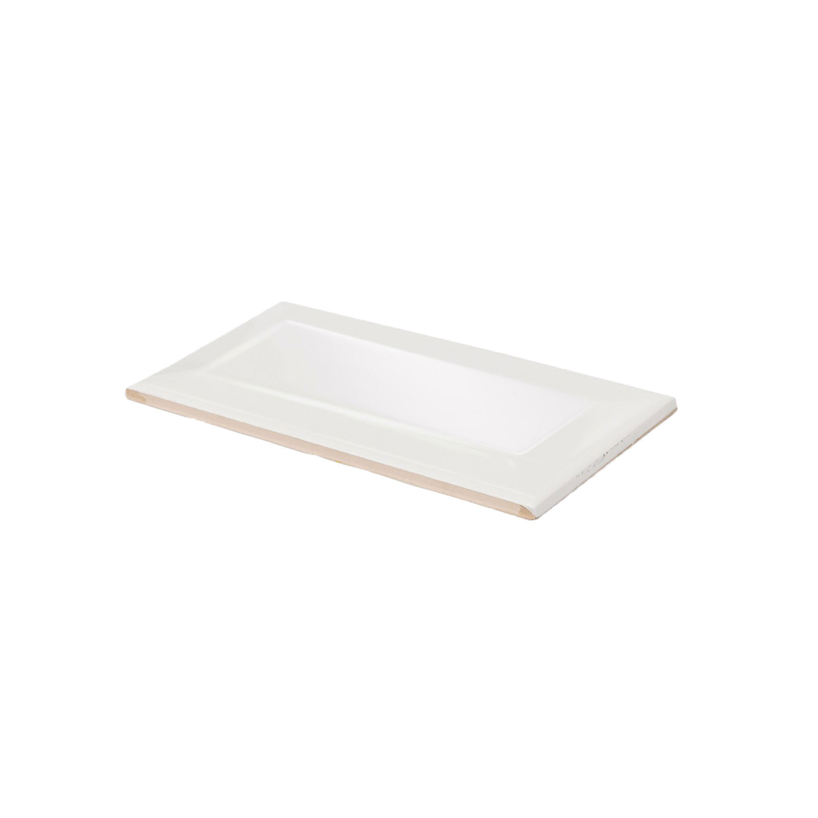 Decor8 152 x 76mm White Bevel Manhattan Ceramic Wall Tiles - 88 Pack