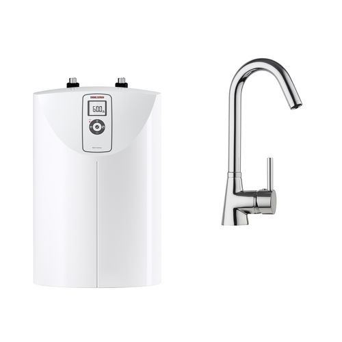 STIEBEL ELTRON SNE 5 LCD Open Vented Water Heater With MES-G Gooseneck Tap