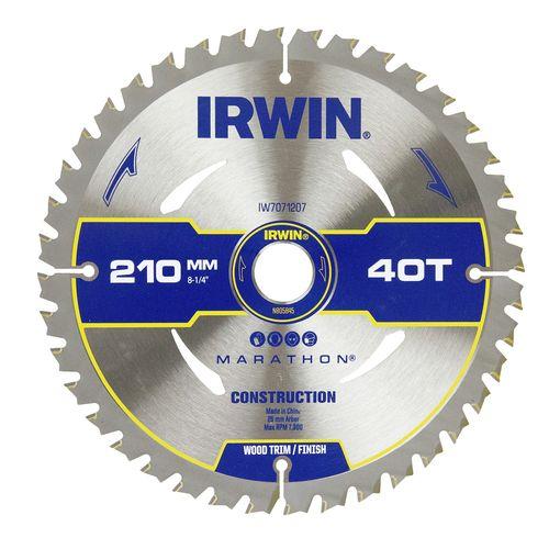 Irwin 210mm 40T Marathon Circular Saw Blade