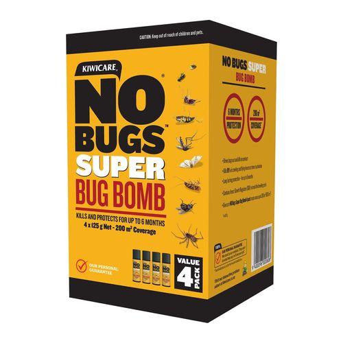 Kiwicare 125g NO Bugs Super Bug Bomb - 4 Pack