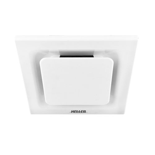 Heller 250mm White Square Ventilating Ducted Exhaust Fan