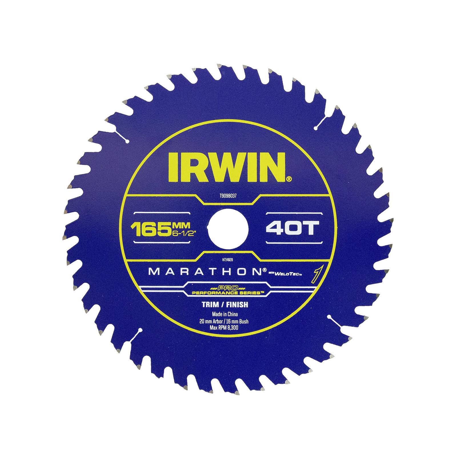 Irwin WeldTec 165mm 40T Construction Circular Saw Blade