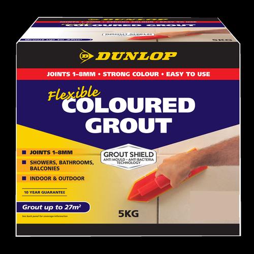 Dunlop 5kg Flexible Coloured Grout - Misty Grey