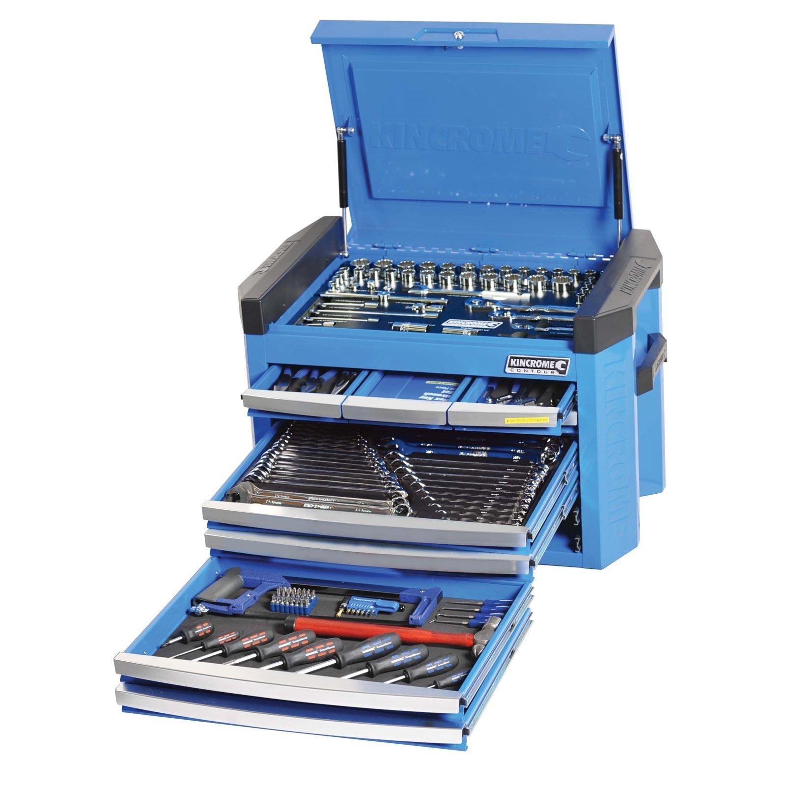 Kincrome 207 Piece Contour 8 Drawer Electric Blue Tool Kit