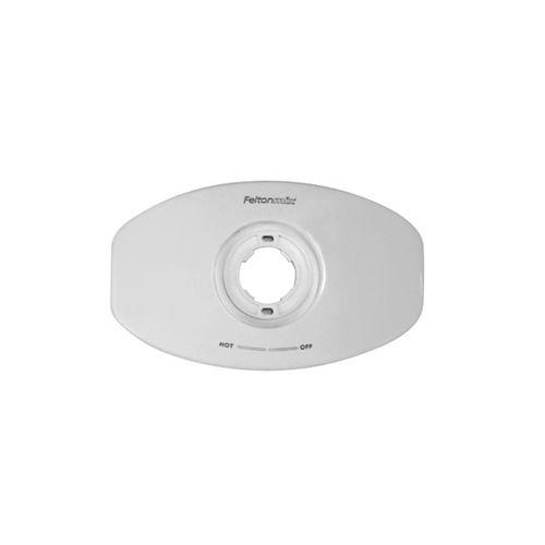 Felton Designer Shower Mixer Wall Plate White