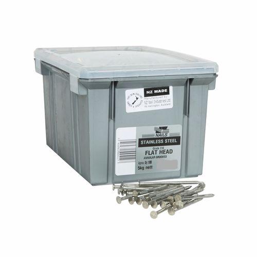 NZ Nail 30 x 2.8mm 316 Stainless Steel Flat Head Nail - 5kg Box