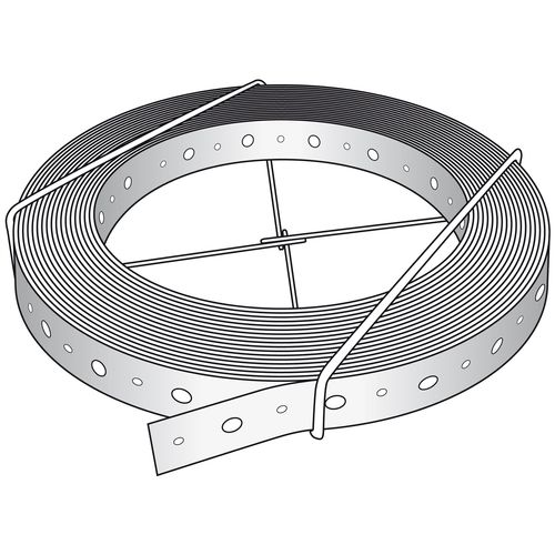 Abey 30 x 0.8mm x 30m Galvanised Plain Strapping