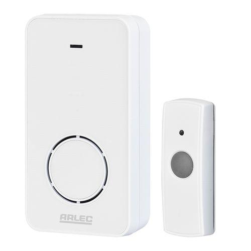 Arlec White Wireless Door Chime Power Socket