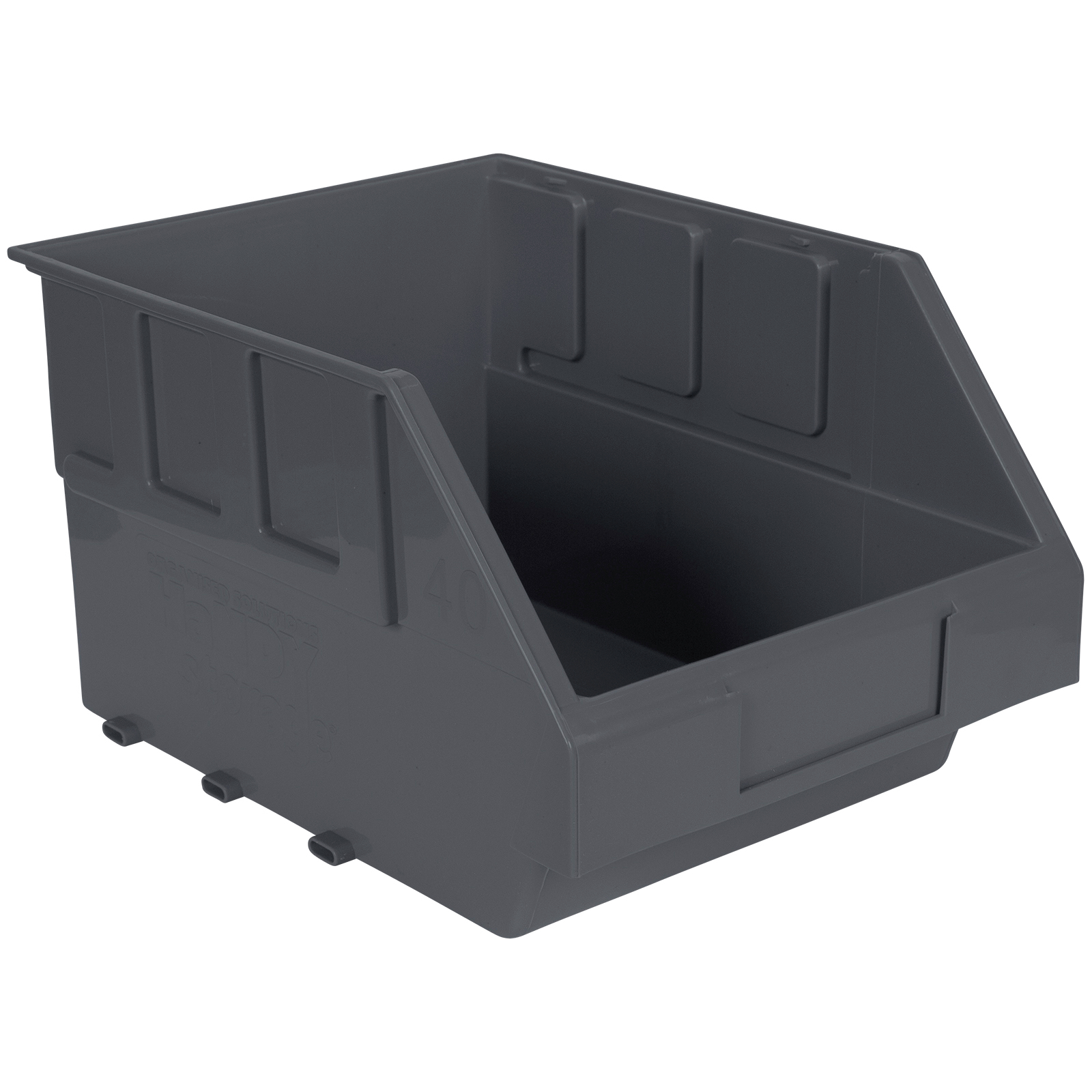 Handy Storage Size 40 Grey Plastic Storage Tote