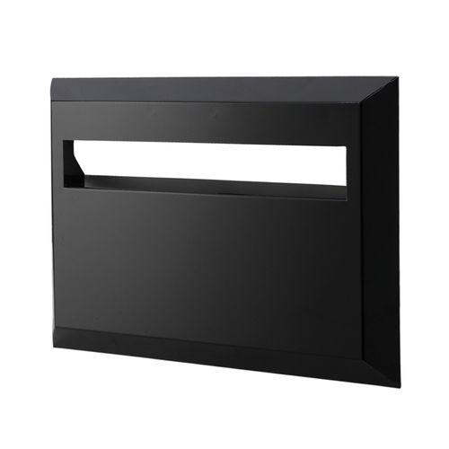 Sandleford Black Galvanised Front And Back Brick Insert Mailbox
