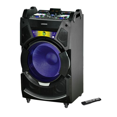 Lenoxx Bluetooth 300W RMS Speaker System Dj Mixer w/ USB/SD FM/Karaoke/Lights