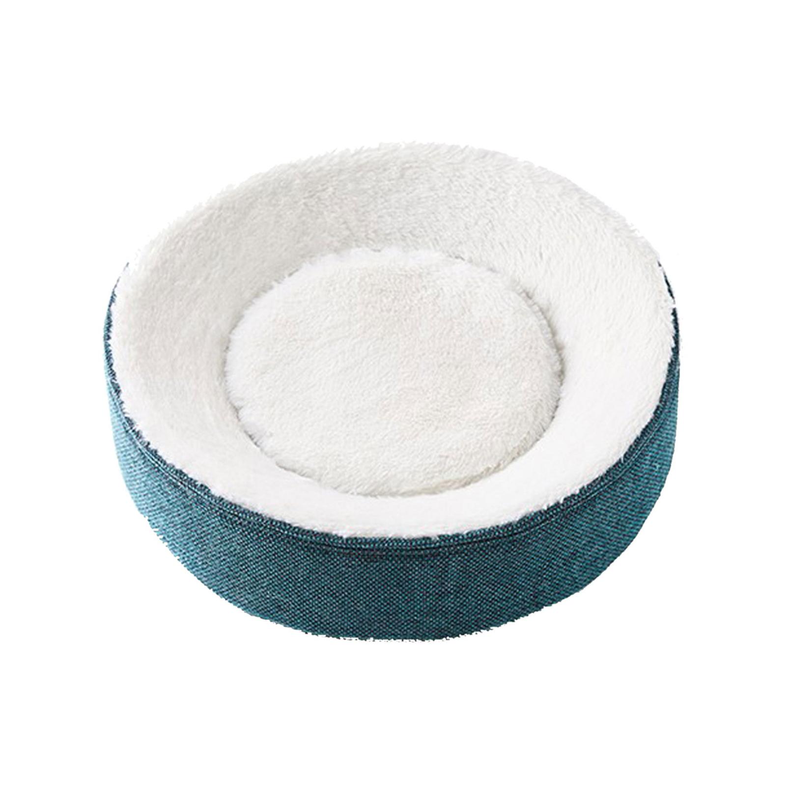 Petkit Deep Sleep 41cm Cat/Kitten/Pet Memory Foam Curved/Round Bed Warm/Cozy GRN