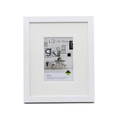 Alto 8 x 10inch/4 x 6inch Opening Matte White Photo Frame