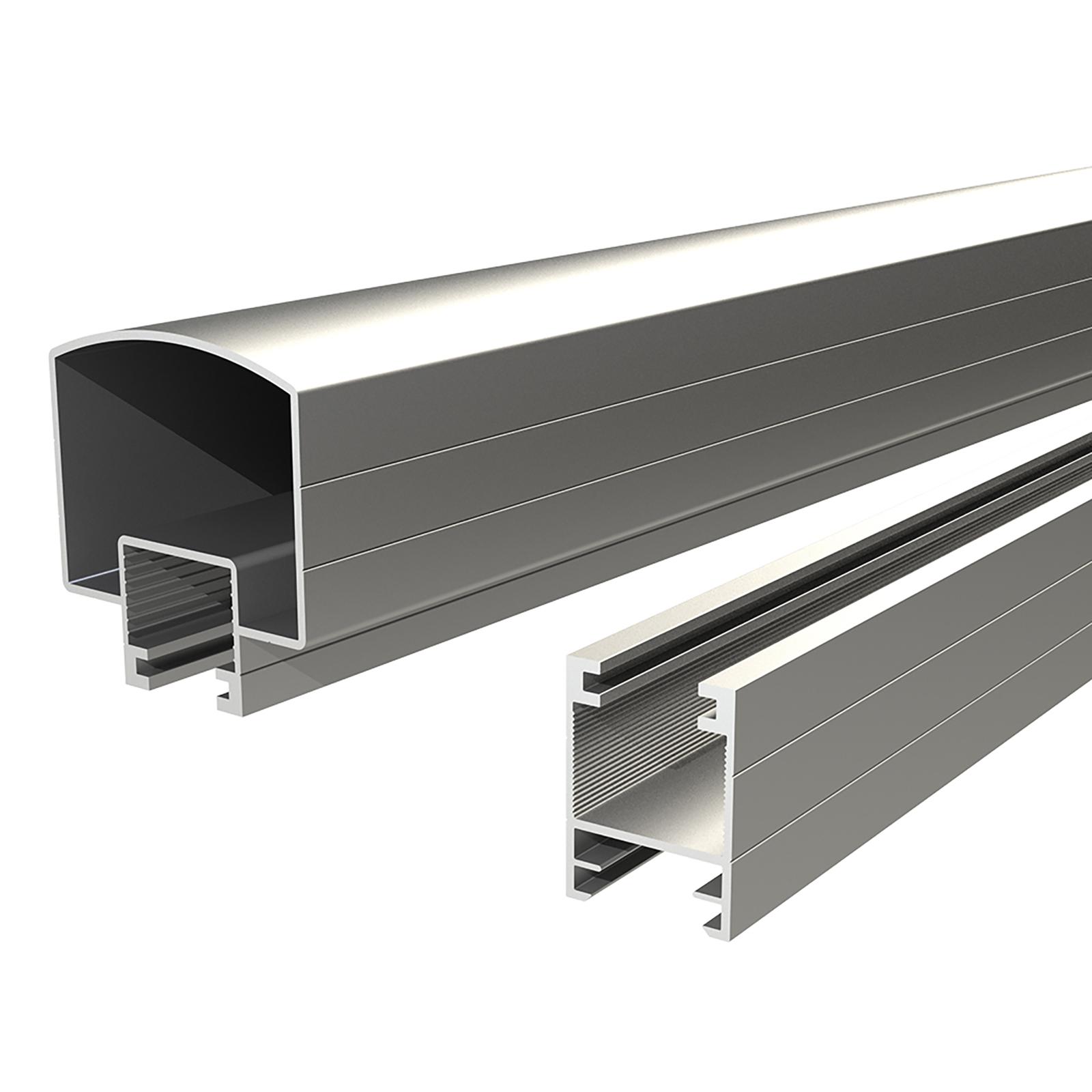 Peak Products 1200mm Silver Aluminium Balustrade Hand And Base Rail