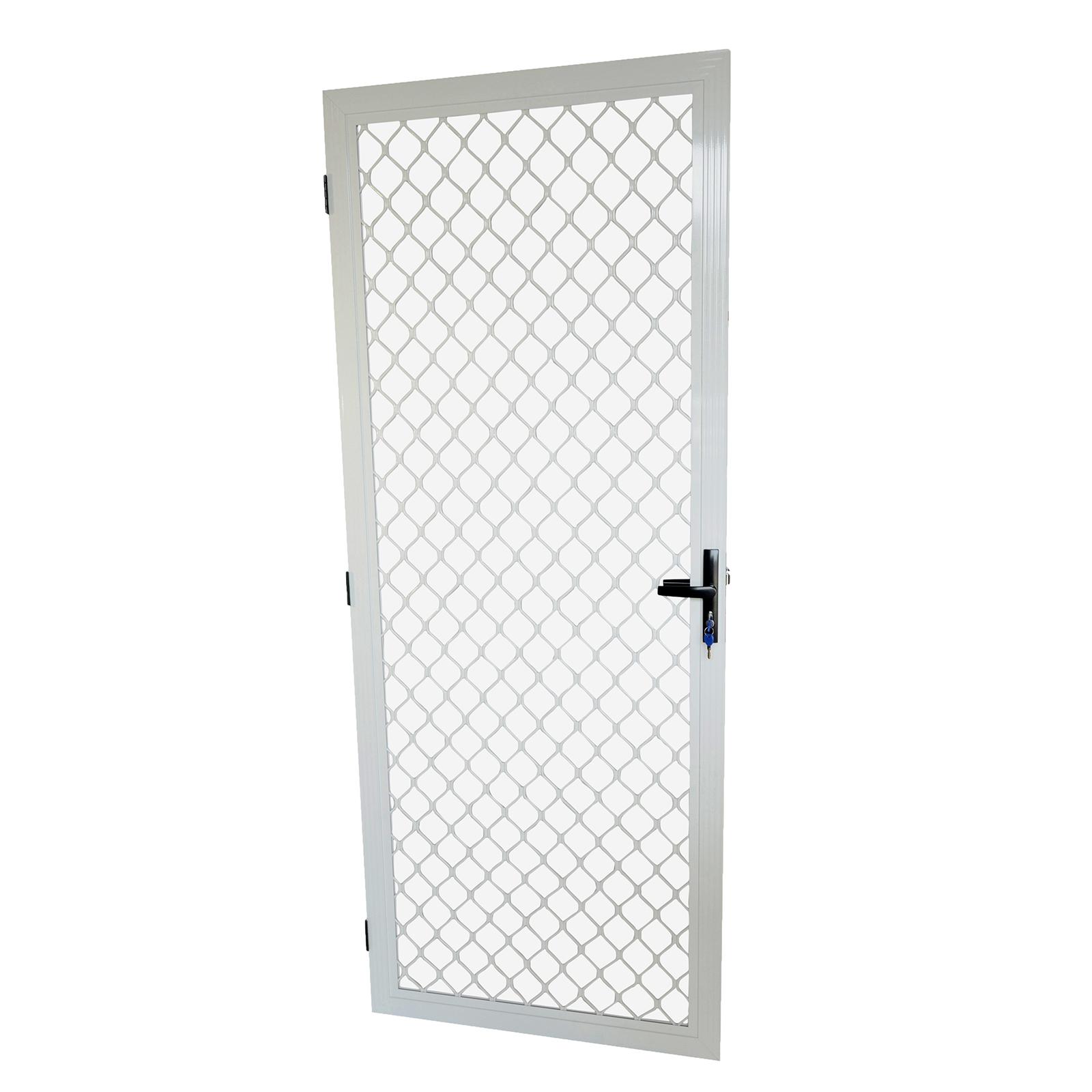 Protector Aluminium 806 x 2024mm White Imperial Fixed Barrier Door