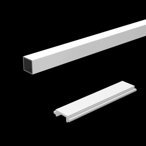 Peak Products 1800mm White Aluminium Balustrade Standard Baluster And Spacer Kit