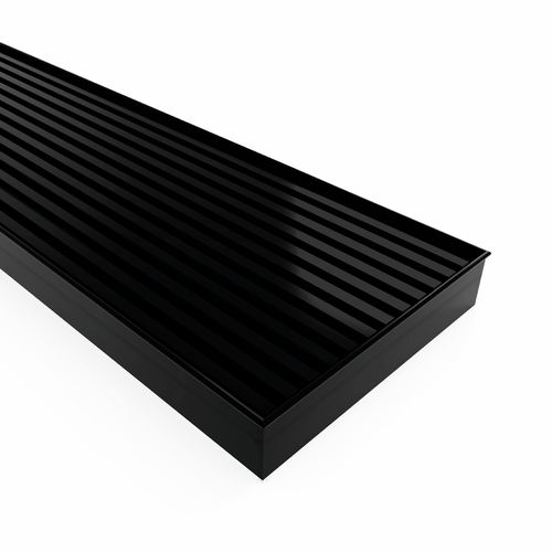 Forme 1000 × 100mm Black Satin Stainless Steel Mesh Floor Waste