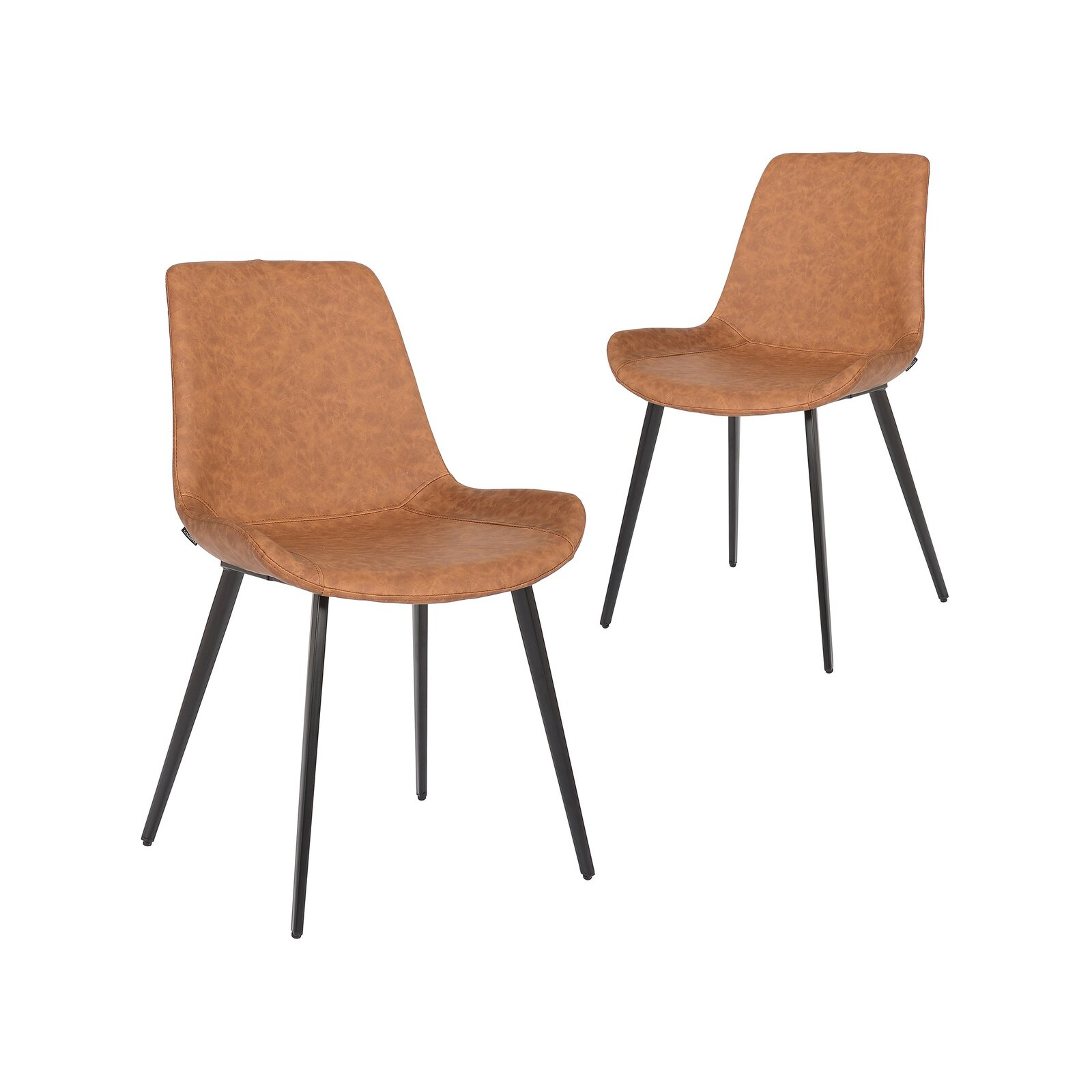Simplife Set of 20 Cleo Tan Faux Leather Dining Chair