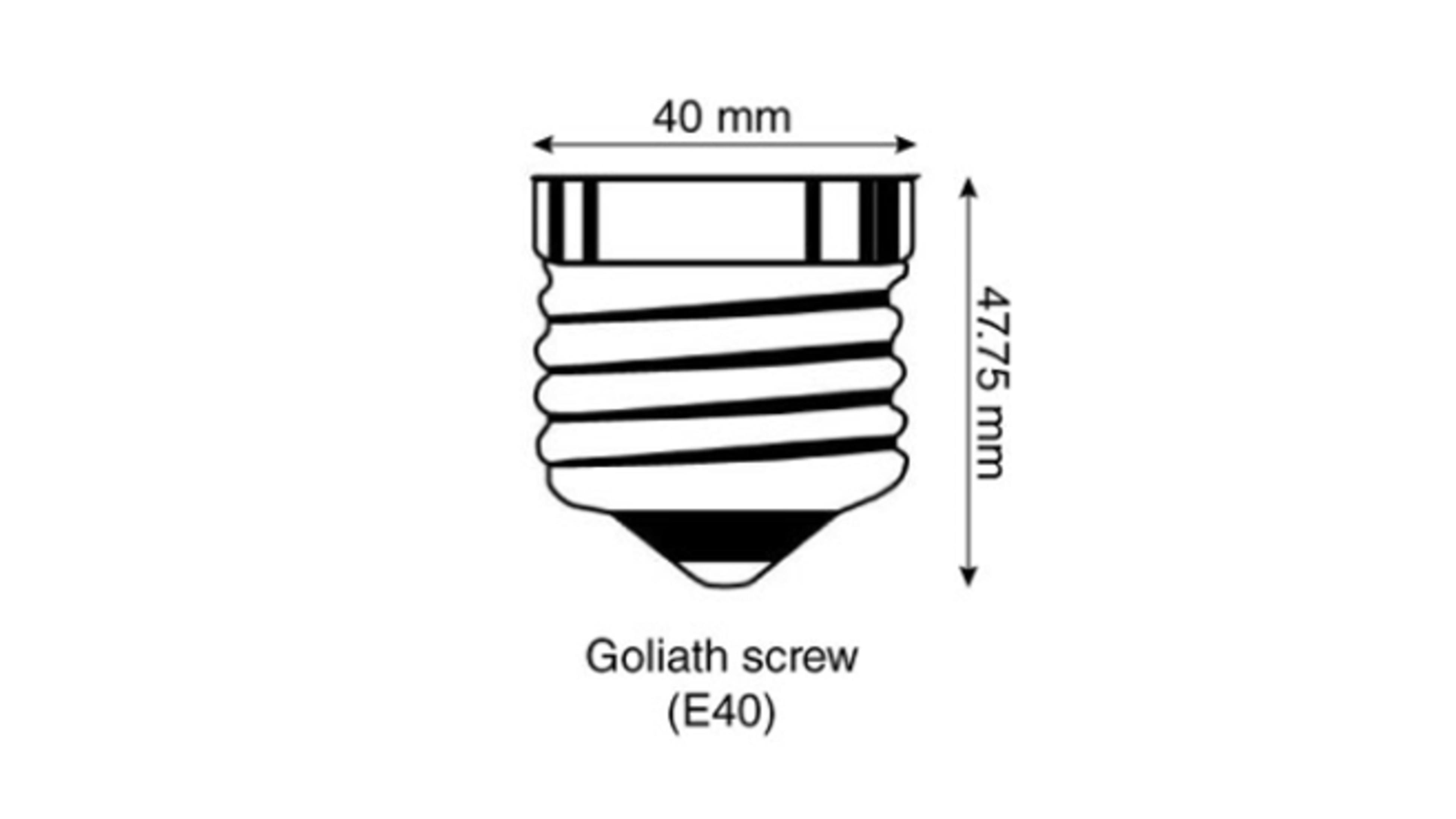 A diagram of a giant Edison screw globe