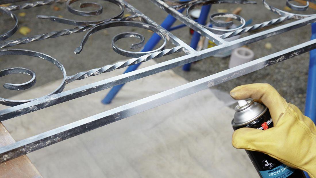 DIY Step Image - How to paint metal . Blob storage upload.