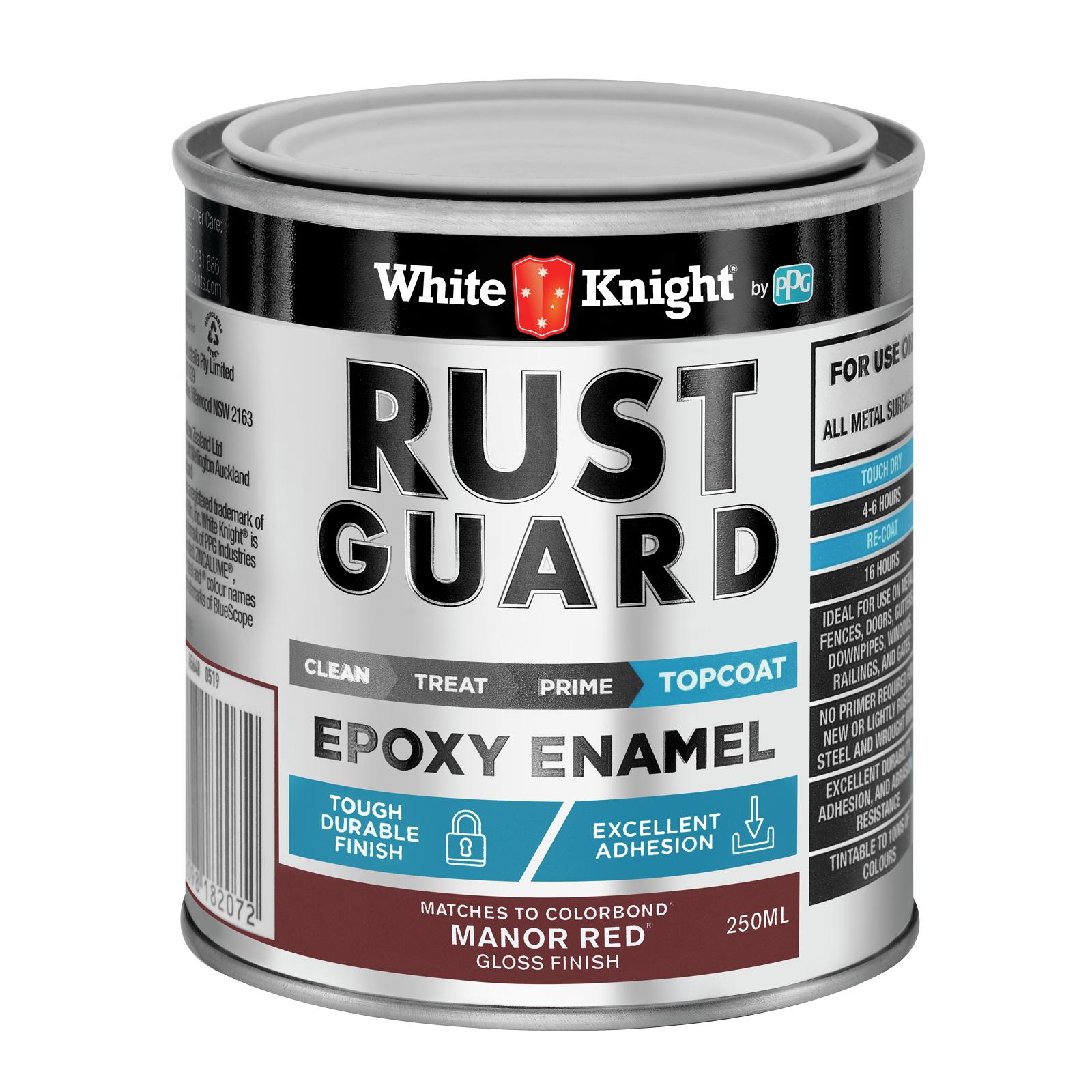 White Knight Rust Guard Gloss Manor Red Epoxy Enamel Paint - 0.25L
