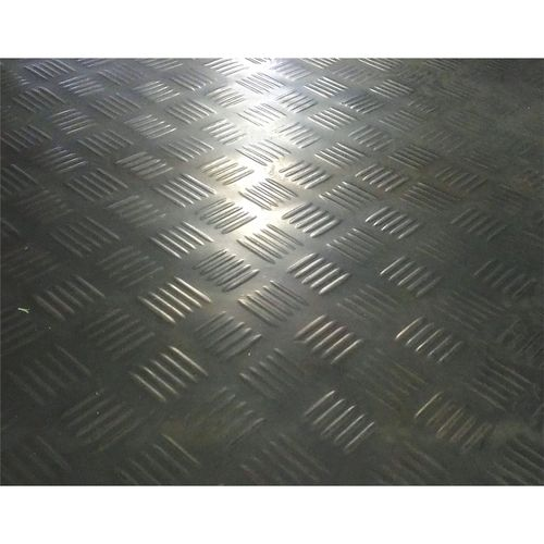 Ideal 1m Black Check Plate Rubber Matting Sheet