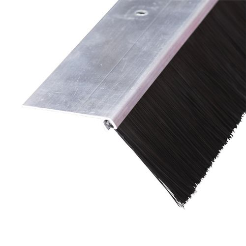 Moroday Silver Angled Brush Garage Door Seal