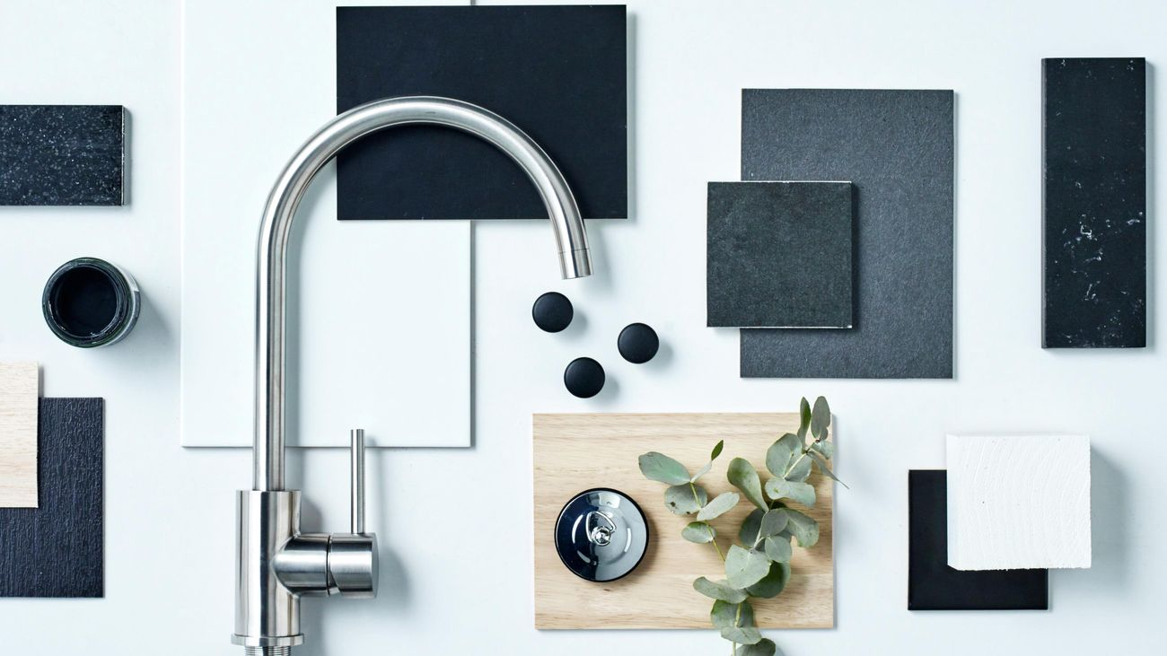 Sleek tap and tile designs laid out for project