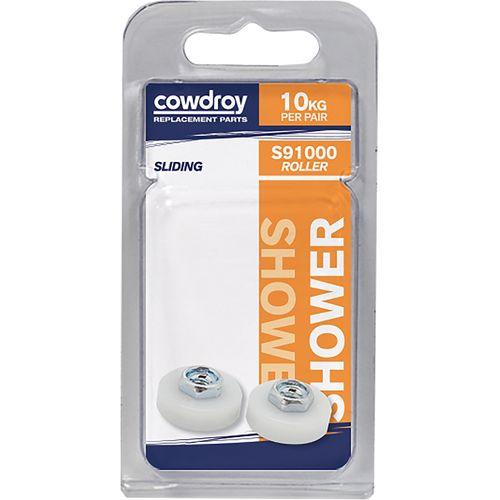 Cowdroy 19mm Shower Wheel Sliding Door Accessory - 2 Pack
