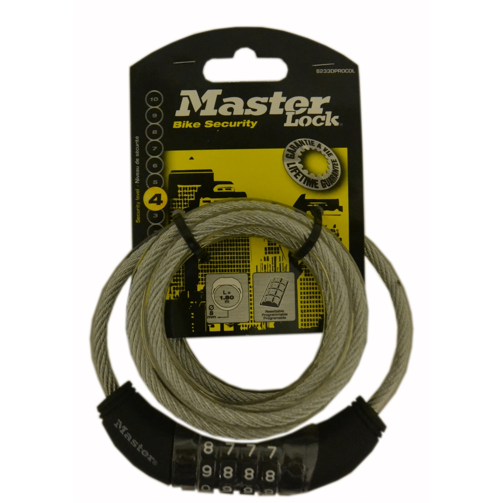 Master Lock 1.8m x 8mm Combination Bike Lock