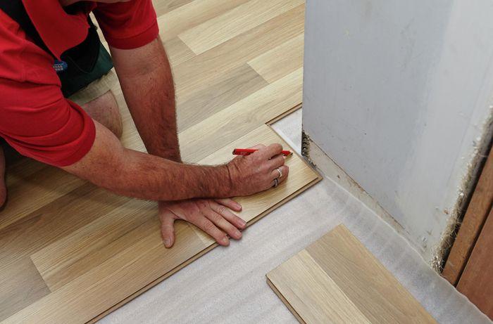 DIY Step Image - How to lay laminate flooring . Blob storage upload.