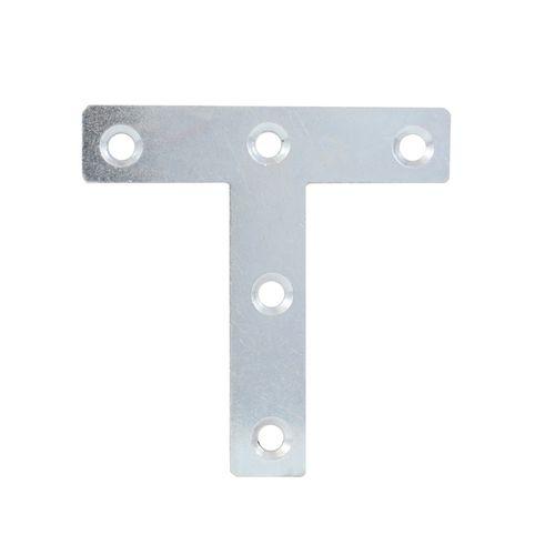 Carinya 76 x 76 x 16 x 2mm Reinforced Zinc Plated T Mending Plate