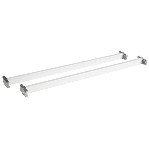Flexi Storage 435mm White Cross Bars With T Connectors