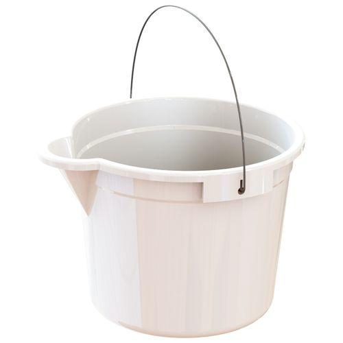 HomeLeisure Trend White 15L Bucket