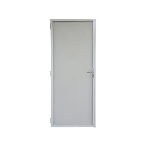Pillar 2032 x 813mm White Steel Frame Contemporary Screen Door