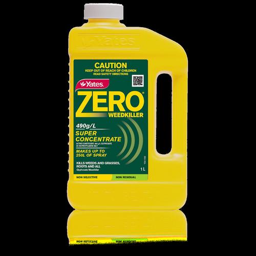 Yates 1L 490g/L Zero Weed Killer Super Concentrate