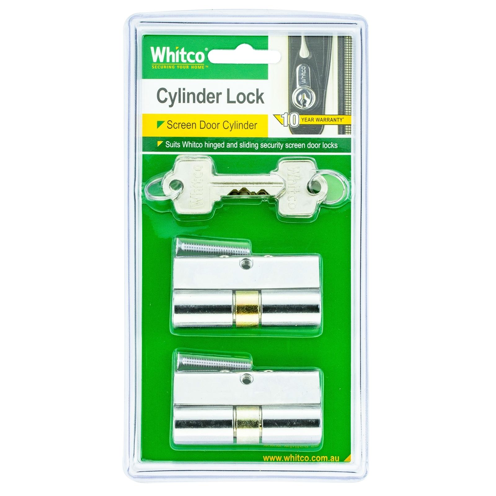 Whitco 5 Pin Keyed Alike Cylinder Lock - 2 Pack
