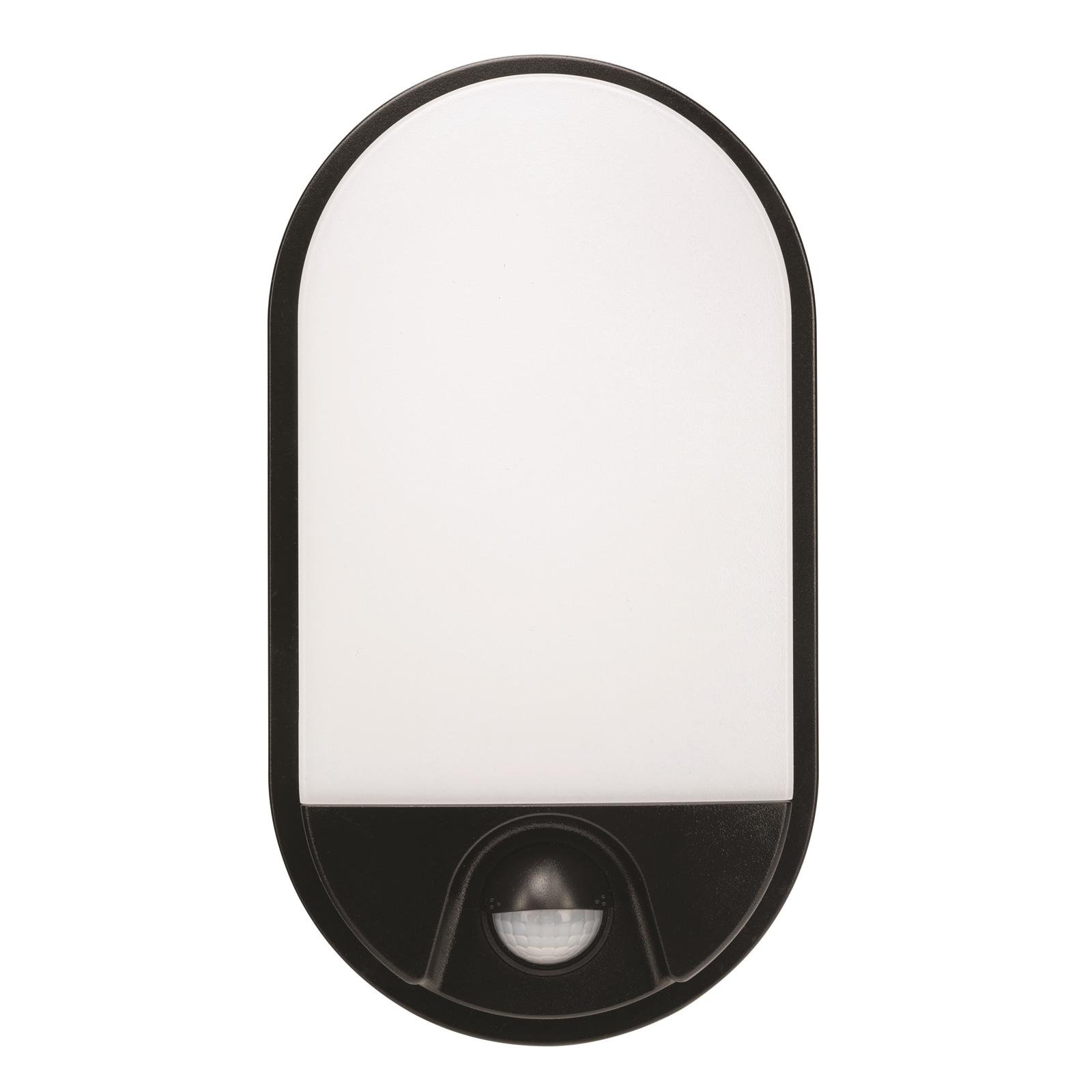 Brilliant Lighting 10W Barnet Slimline Oval Bunker Security Sensor Light