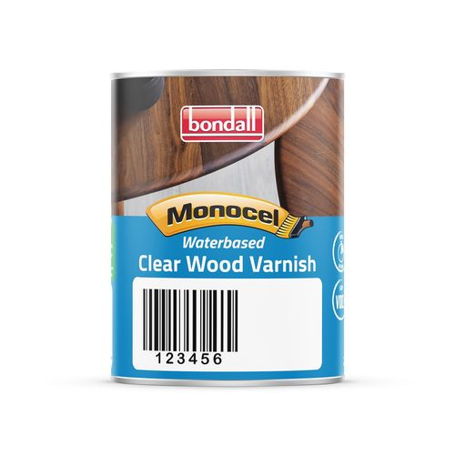 Bondall 250ml Monocel Satin Waterbased Clear Wood Varnish