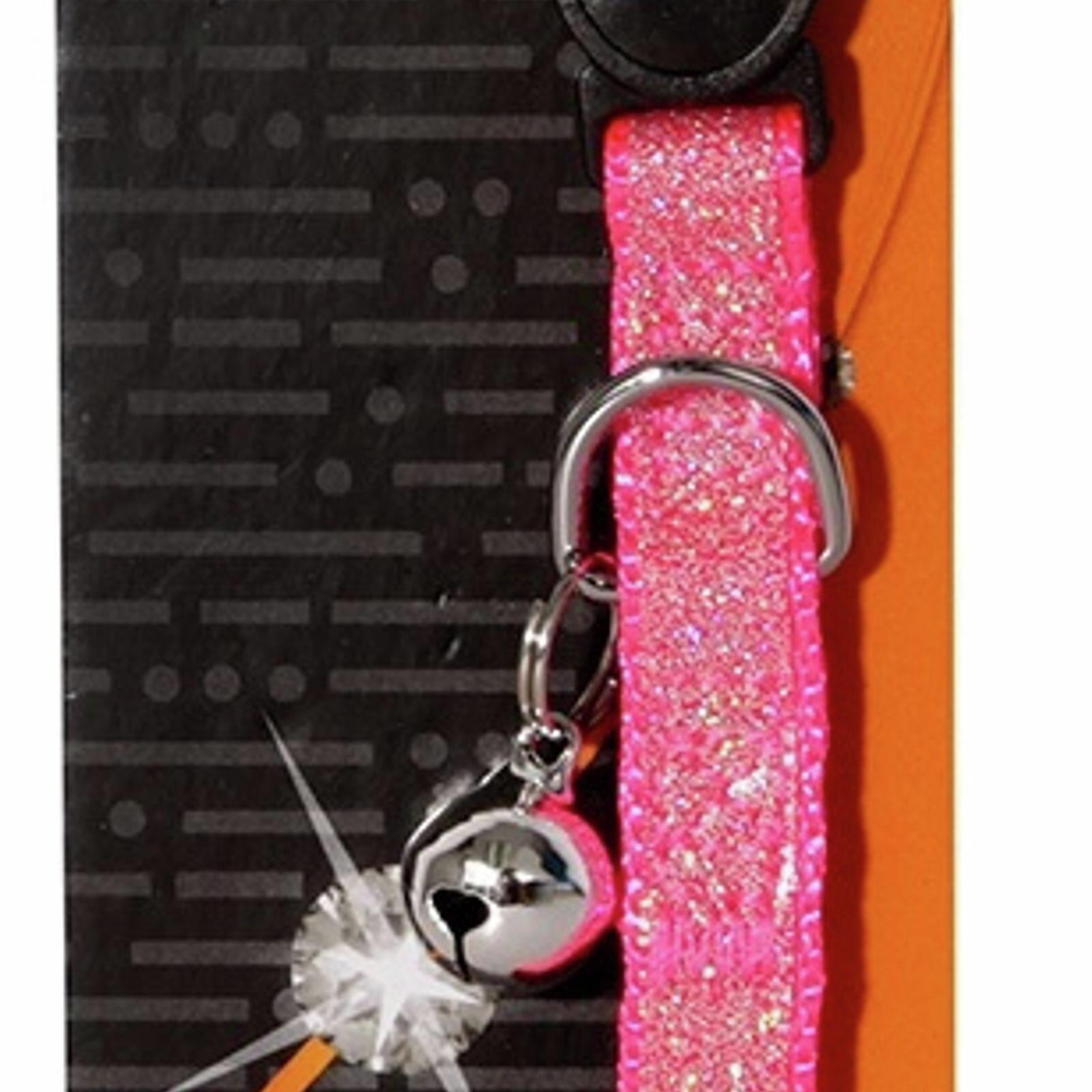Cat Collar Pink Bling Sparkle with Breakaway Clip - 30cm x 10mm (Pet One)