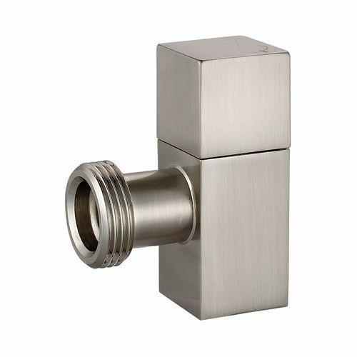 Kinetic 20mm Satin Chrome Brass Square Washing Machine Cock