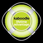 Kaboodle lifetime advantage icon, text set inside a life buoy