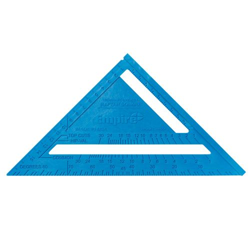 Empire 180mm Blue Poly Cast Rafter Square