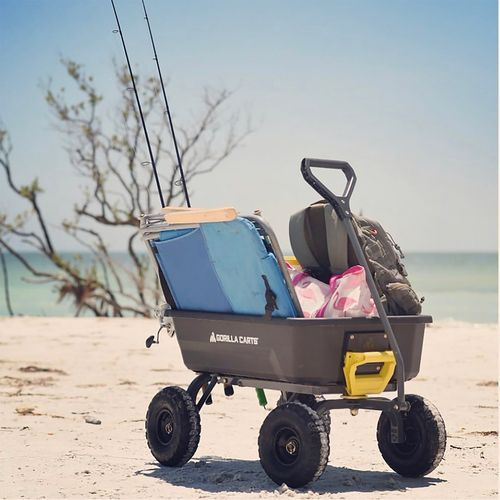 A Gorilla Cart being used to carry chairs and other supplies for a day at the beach