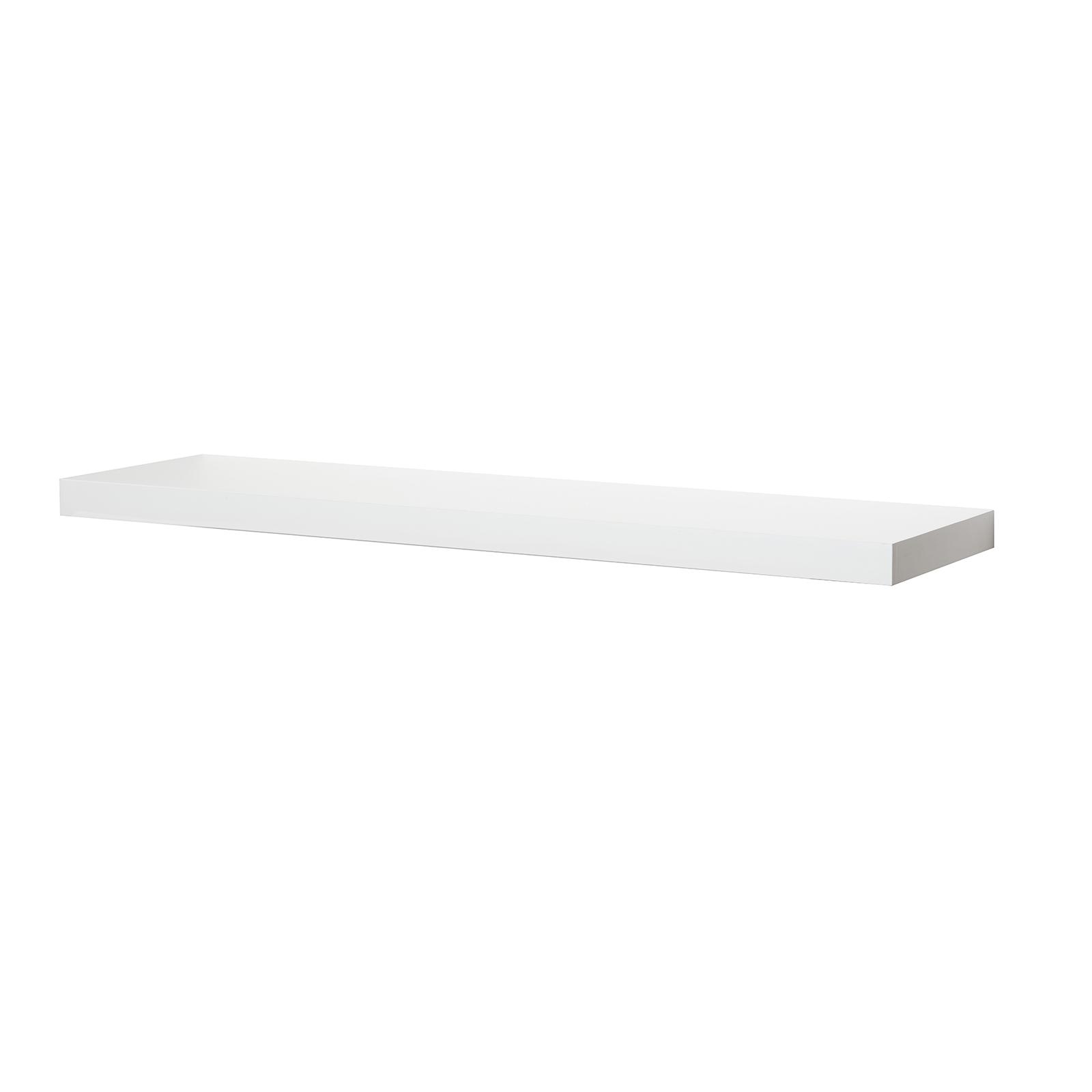 Flexi Storage 900 x 240 x 38mm White Gloss Floating Shelf